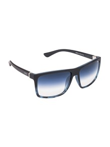 IDEE S1809 Medium (Size:58) Matte Black Blue Tortoise C4 Unisex Sunglasses
