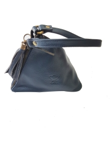 Lether Land Pouch bag A133_NAVY